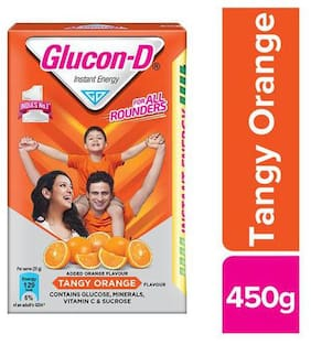 Glucon-D Orange - Glucose Based Beverage Mix 450 g