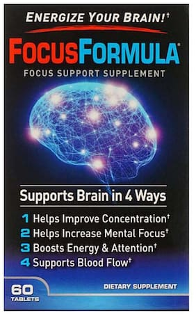 GNC Focus Formula - Supports Blood Flow and Improves Concentration - 60 Tablets