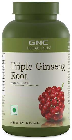 GNC Herbal Plus  Triple Ginseng Root - 90 Vegetarian Capsules