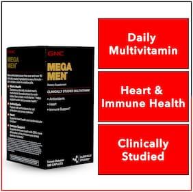 GNC Mega Men  Multivitamin - With Multivitamin blends for Antioxidants, Heart and Immune Support - 90 Servings - 180 Timed-Release Caplets