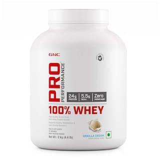 GNC Pro Performance  100% Whey Protein - 4.4 lbs, 2 kg (Vanilla Cream)