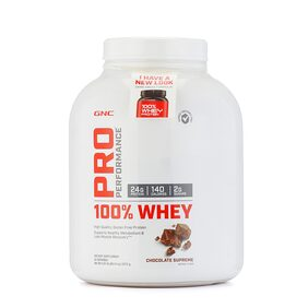 GNC PP 100% Whey Protein Chocolate Powder 5LB (Pack of 1)