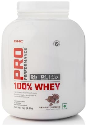 GNC Pro Performance 100% Whey Protein - 4.4 lbs, 2 kg (Chocolate Supreme)