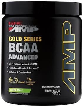 GNC Amp Gold Series BCAA Advanced - 11.9 Oz, 337.5 gm (Green Apple)