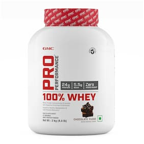 GNC Pro Performance  100% Whey Protein - 4.4 lbs, 2 kg (Chocolate Fudge)