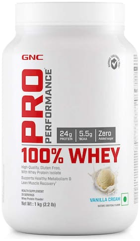 GNC Pro Performance 100% Whey Protein - 2.2 lbs, 1 kg (Vanilla Cream)