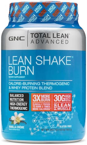 GNC Total Lean  Lean Shake  Burn - 1.63 lbs 739.2 gm (Vanilla Cream)