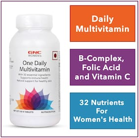 GNC Women's One Daily Multivitamin - Supports Immune Health and Healthy Skin - 60 Tablets