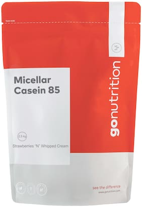Go Nutrition Micellar Casein 85, 2.5 kg Strawberries & Whipped Cream