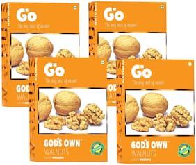 Go's Gods Own Organic Walnuts Light Broken 250g (Pack of 4)