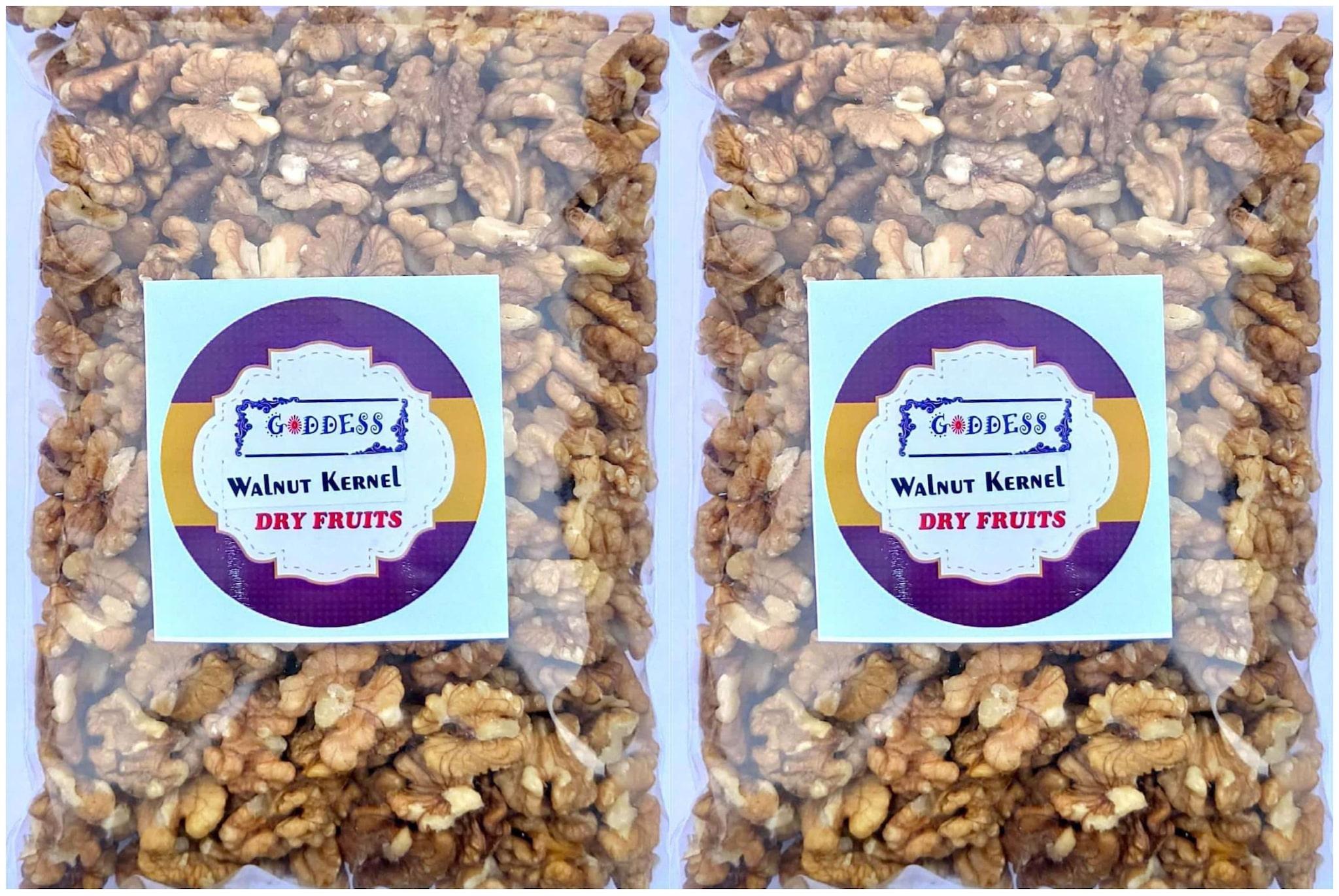 Goddess Premium Walnuts Kernels 450 g each  Pack of 2