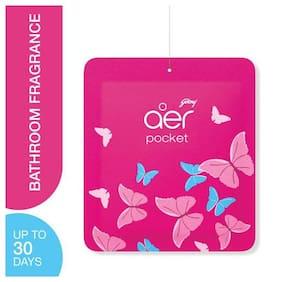 Godrej Aer Pocket Bathroom Fragrance - Petal Crush Pink 10 gm