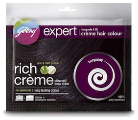 Godrej Rich Creme Hair Colour - Burgundy No. 4.16 20 g + 20 ml