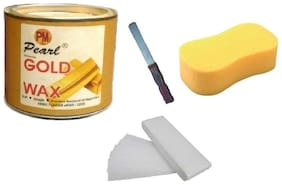 Gold Wax +90 Wax Stripes + Sponge+Applicator Waxing Kit 600 g Pack of 4