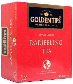 Golden Tips Darjeeling Black Tea - 100 Tea Bags, 200g