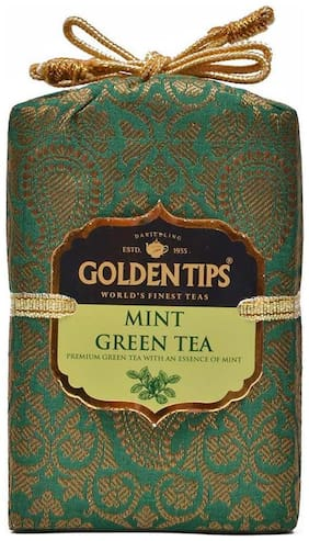 Golden Tips Mint Green Tea - Brocade Bag, 200g