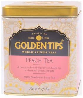 Golden Tips Peach Black Tea Flavour Tin Can 100 g/3.53Oz
