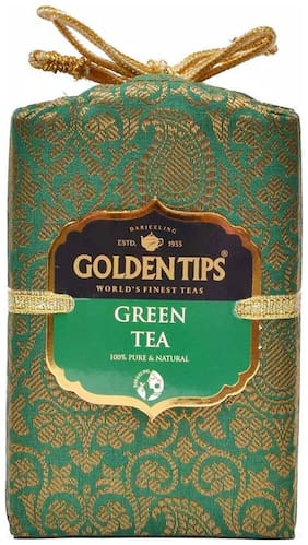 Golden Tips Pure Darjeeling Green Tea - Brocade Bag, 100g