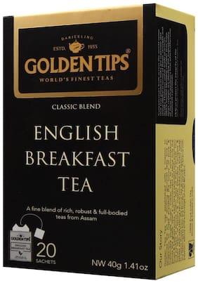 Golden Tips English Breakfast Tea - 20 Envelope Tea Bags (40g)
