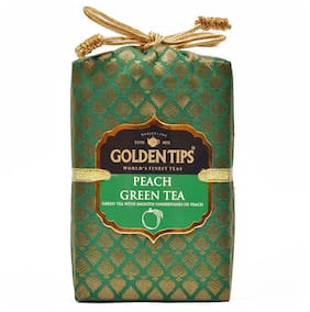 Golden Tips Peach Green Tea - Brocade Bag, 200g