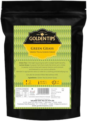 Golden Tips Lemon Grass Green Tea, 100g / 3.53oz (40 Cups)