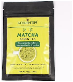 Golden Tips Authentic Japanese Matcha Green Tea Powder, 50g/1.76oz - High in Antioxidants & Energy