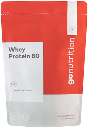 GoNutrition Whey Protein 80, 250g Cookies N Cream