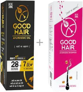 Good Hair Ayurvedic Hair Care - Hair Oil 100ml And Shampoo 200ml (Pack of 2)