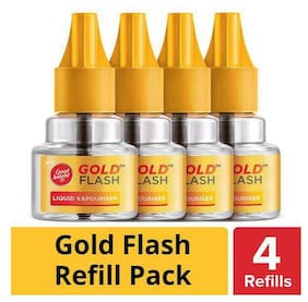 Good knight Gold Flash - Mosquito Repellent Refill 45 ml, Pack of 4