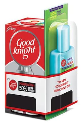 Good knight Combo Pack - Liquid Vaporiser & Fabric Roll On 53 ml