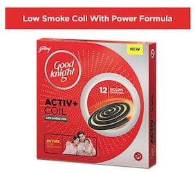 Good knight Activ+ Low Smoke Mosquito Coil with Power Formula 250gm