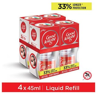 Good Knight Activ+ Liquid Refill 33% Extra Protection (Pack Of 4)