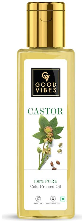 Good Vibes 100% Pure Castor Carrier Oil Cold Pressed(200 ml)