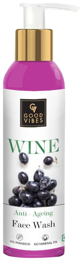 Good Vibes Anti - Ageing Face Wash - Wine (120 ml)