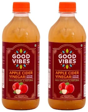 Good Vibes Apple Cider Vinegar With The Mother 473ml (Pack of 2)