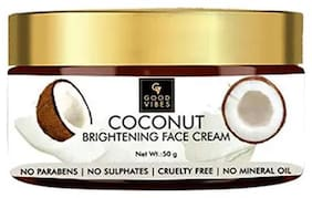 Good Vibes Brightening Face Cream - Coconut (50 g) (Pack of 1)