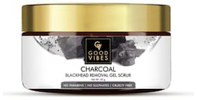 Good Vibes Blackhead Removal Gel Scrub  Activated Charcoal (50 g)