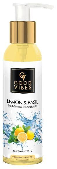 Good Vibes Energizing Shower Gel (Body Wash) - Lemon & Basil (200 ml)