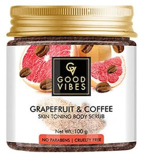 Good Vibes Grapefruit and Coffee Skin Toning Body Scrub 100 gm (Pack Of 1)