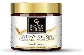 Good Vibes Nourishing Night Cream - Wheatgerm (100 g) (Pack of 1)