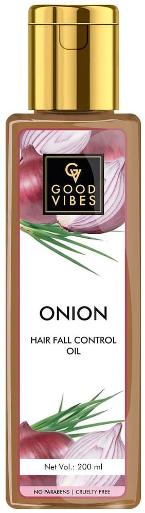 Good Vibes Onion Hairfall Control Hair Oil (200 ml)