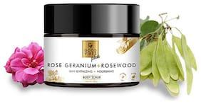 Good Vibes Plus Skin Revitalizing + Nourishing Body Scrub - Rose Geranium + Rosewood 50 g (Pack Of 1)