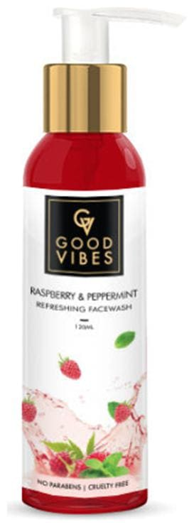 Good Vibes Refreshing Face Wash - Raspberry & Peppermint (120 ml)