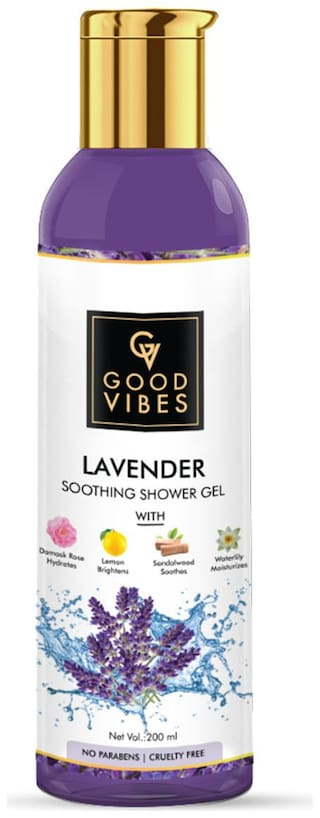 Good Vibes Soothing Shower Gel (Body Wash) - Lavender (200 ml)