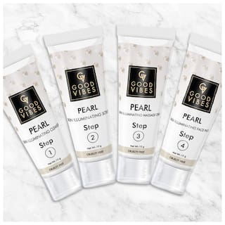 Good Vibes Skin Illuminating Facial Kit - Pearl (40 g) (Pack of 4)