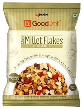 GoodDiet Multi Millet Flakes - With Fruits & Nuts 30 g
