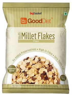 GoodDiet Multi Millet Flakes - Plain 30 g