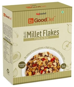 GoodDiet Multi Millet Flakes - With Fruits & Nuts 350 gm
