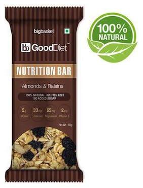 Gooddiet Nutrition Bar - Almonds & Raisins 40 g