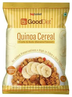 GoodDiet Quinoa Cereal - With Fruits & Nuts  Banana Flavour 30 g